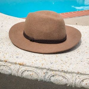 Lucky Brand Brown Wool Fedora Festival Hat